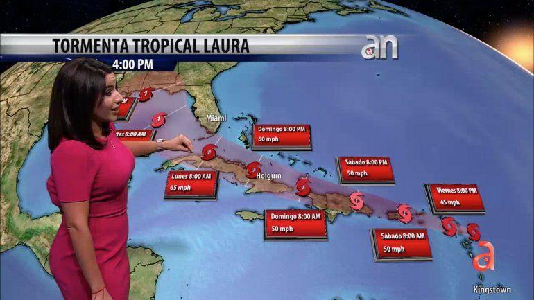 La tormenta tropical Laura se dirige hacia Cuba mientras que declaran estado de emergencia en los Cayos de la Florida