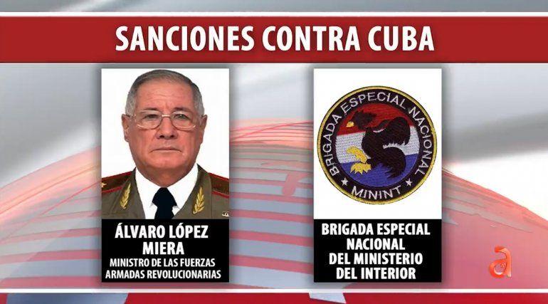 Administración Biden sanciona al Ministro de las FAR, Alvaro López Miera y a las Brigadas de Fuerzas Especiales por abusos contra manifestantes