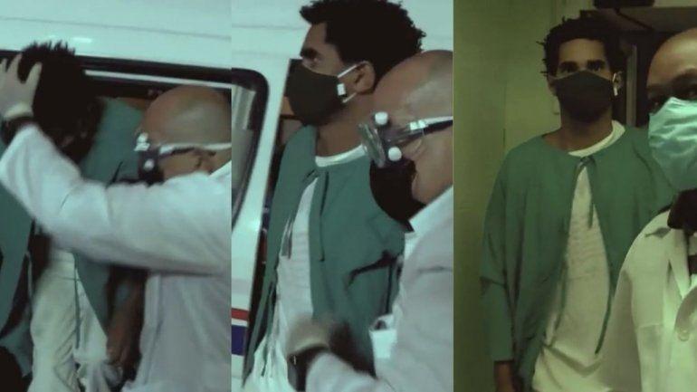 Las primeras imágenes de Otero Alcántara  entrando  en el hospital Calixto García escoltado por agentes de la seguridad Del Estado