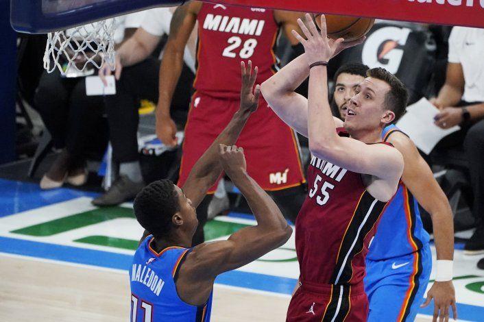 El Heat completa su gira con una victoria sobre el Thunder