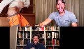 En videollamada con Enrique Iglesias: Ricky Martin se peló las nalgas