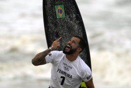 ferreira y moore, primeros campeones olimpicos de surf