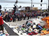marcha en chile termino con quema de pertenencias de migrantes venezolanos