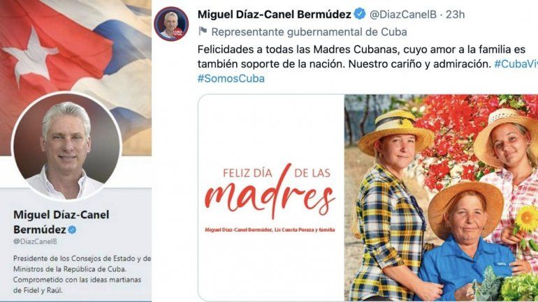 Díaz Canel felicita a las madres cubanas en Twitter y se lo comen vivo en las redes