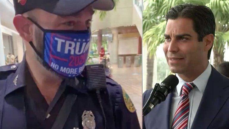 Alcalde Francis Suarez califica de inapropiada la acción del policía que uso mascara en apoyo a Trump