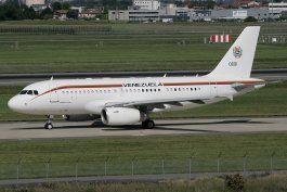 la dictadura chavista envio el avion presidencial de nicolas maduro a la habana
