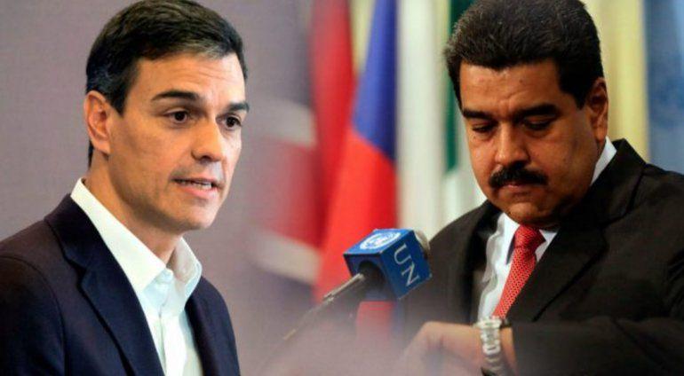 Maduro critica a Pedro Sánchez y dice que está desinformado porque Leopoldo López es un terrorista