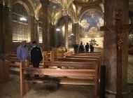 hombre parecia tratar de quemar iglesia catolica en israel