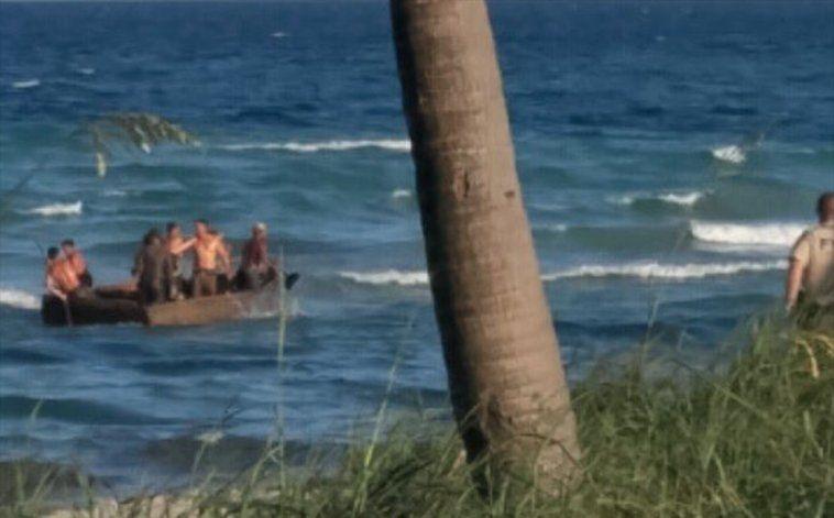 Siete cubanos son interceptados tras tocar tierra en Cayo Hueso