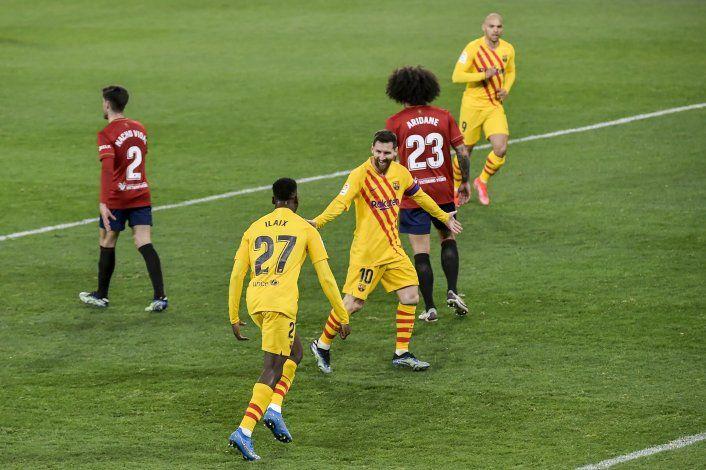 Barcelona vence al Osasuna y se afianza como 2do en España