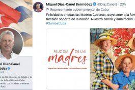 diaz canel felicita a las madres cubanas en twitter y se lo comen vivo en las redes