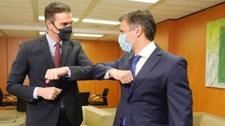 Presidente del Gobierno Español Pedro Sánchez se reúne con Leopoldo López en la sede del PSOE