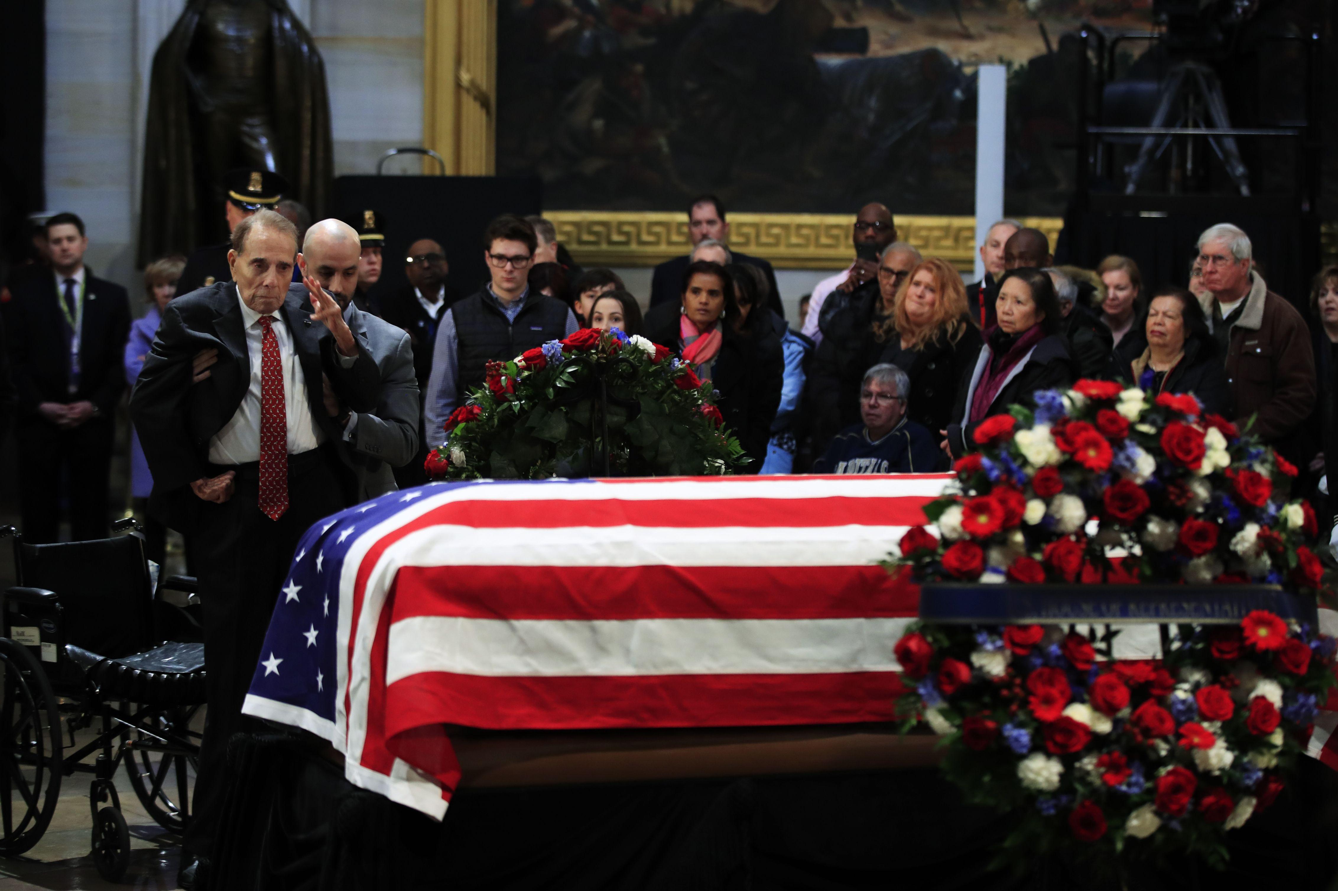 Despiden al ex presidente George H.W. Bush