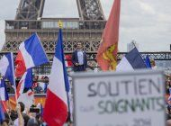 francia: extrema derecha protesta contra certificacion covid