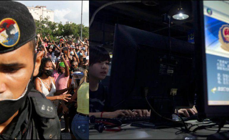 China estaría detrás del apagón del internet en Cuba el domingo 11 de julio mientras miles de cubanos protestaban en las calles