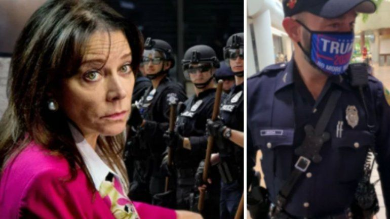 La fiscal estatal Katherine Fernandez Rundle califica de inaceptable conducta de policía con máscara de Trump