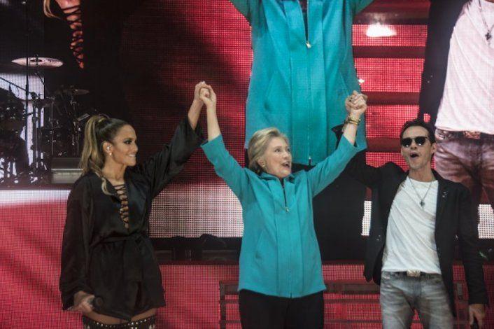 Jennifer López ofrece concierto en Miami en apoyo a Hillary Clinton