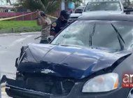 tiroteo causa un accidente entre dos carros en la ciudad de miami
