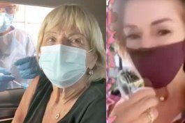 conocida presentadora de argentina trajo a su mama a vacunarse a miami mientras miles esperan aun por la vacuna
