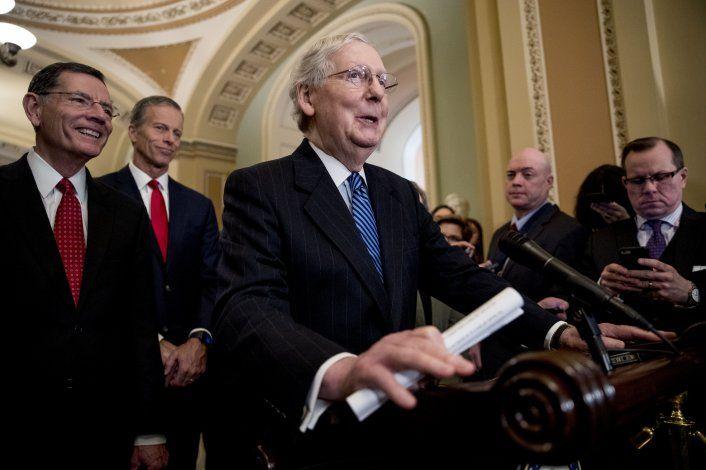 Menos de la mitad de los senadores republicanos necesarios apoyan una condena de Trump ante el Congreso