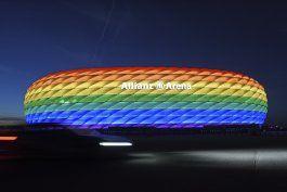 uefa rechaza que estadio de munich se ilumine con arcoiris