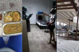 salen a la luz imagenes de las condiciones en que se encuentran viviendo cubanos en un centro de aislamiento en cienfuegos