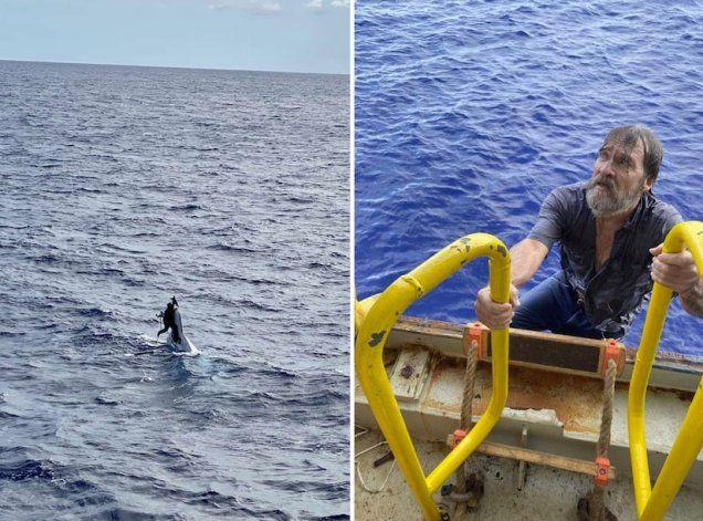 Navegante desaparecido en Florida fue encontrado aferrado a su bote volcado