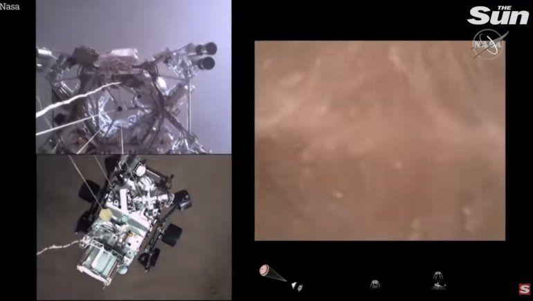 La NASA publicó el primer video de la llegada del rover Perseverance a Marte