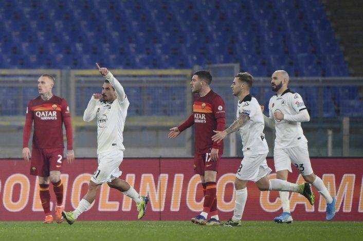 Spezia vence a Roma y está en cuartos de Copa Italia
