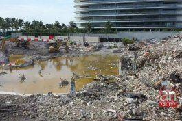 surfside: tareas en escombros del champlain tower a punto de concluir