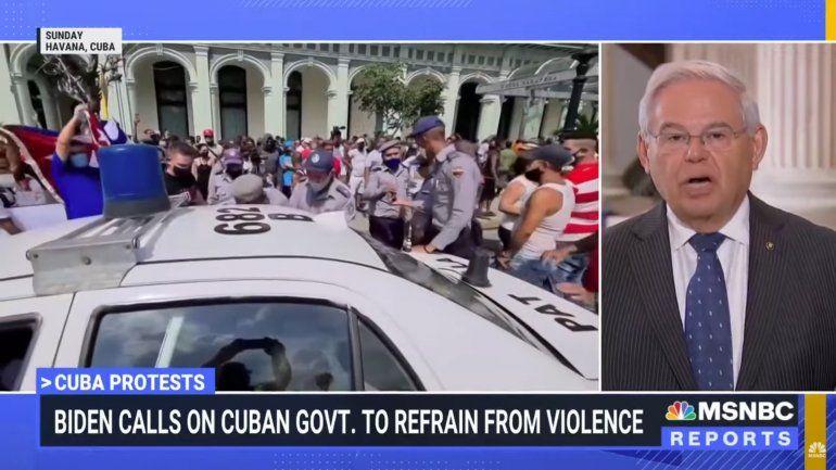 Bob Menéndez: EEUU no va tener una intervención militar en Cuba
