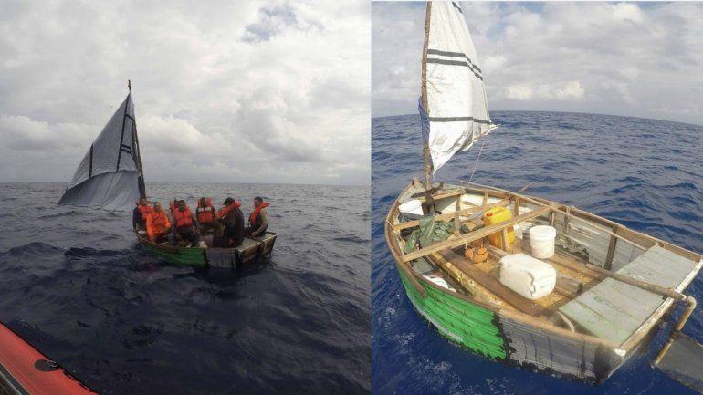 Guardia Costera repatría a siete cubanos rescatados en altamar