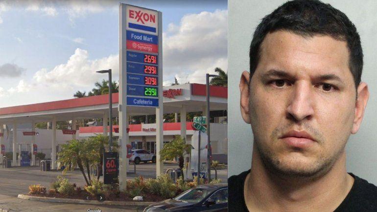 Tras las rejas un hombre acusado de comprar gasolina con una tarjeta de crédito falsa en gasolinera de Hialeah