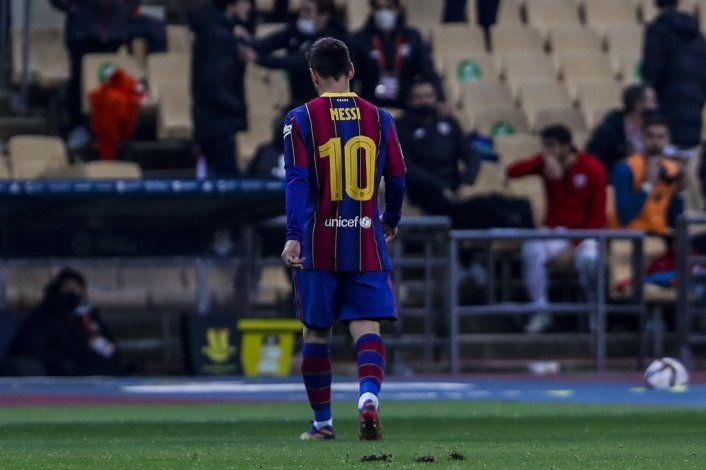 El Athletic somete al Barça en la Supercopa, Messi expulsado