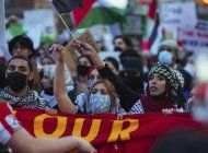 protestan en eeuu por ataques de israel a franja de gaza