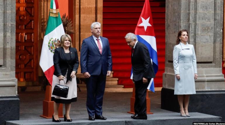 Rechazan visita de Díaz-Canel a México y critican apoyo de AMLO a la dictadura cubana