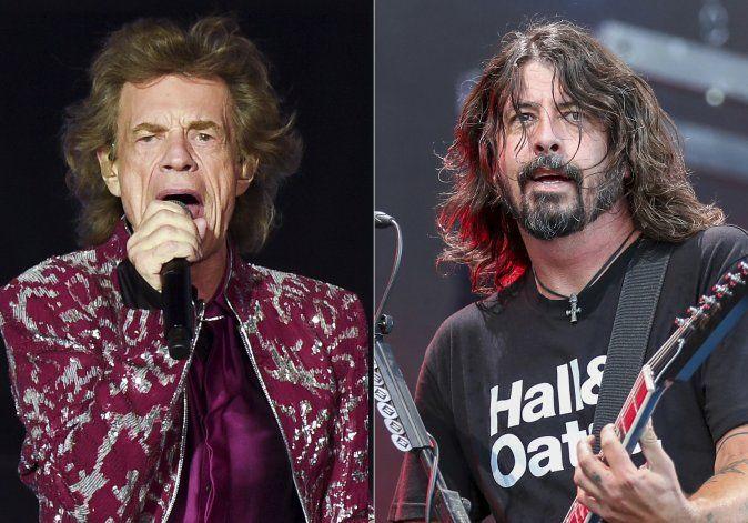 Mick Jagger y Dave Grohl hacen equipo en pandemia