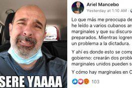 humorista cubano residente en miami arremete en las redes sociales contra el movimiento san isidro y le llueven las criticas