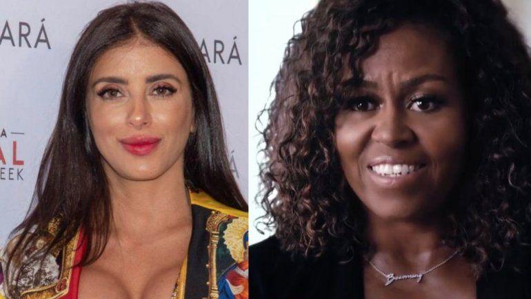 Modelo libanesa y esposa de jugador del Barcelona arremete contra Michelle Obama: Tu marido financió a terroristas durante años