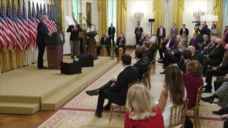 Presidente Trump se reúne con integrantes de la Brigada 2506 en Washington