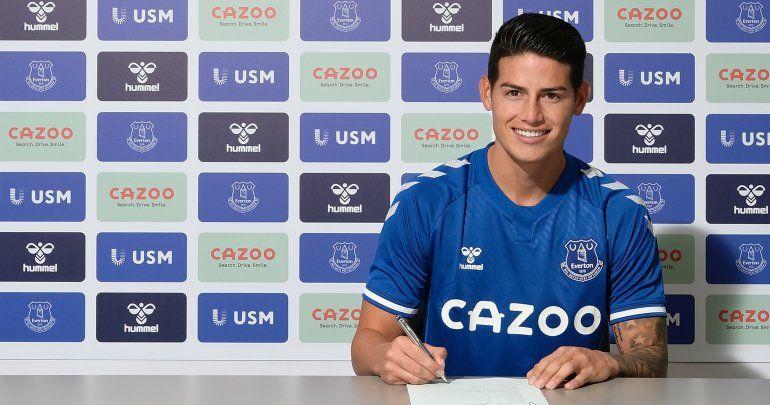 Everton ficha a James Rodriguez
