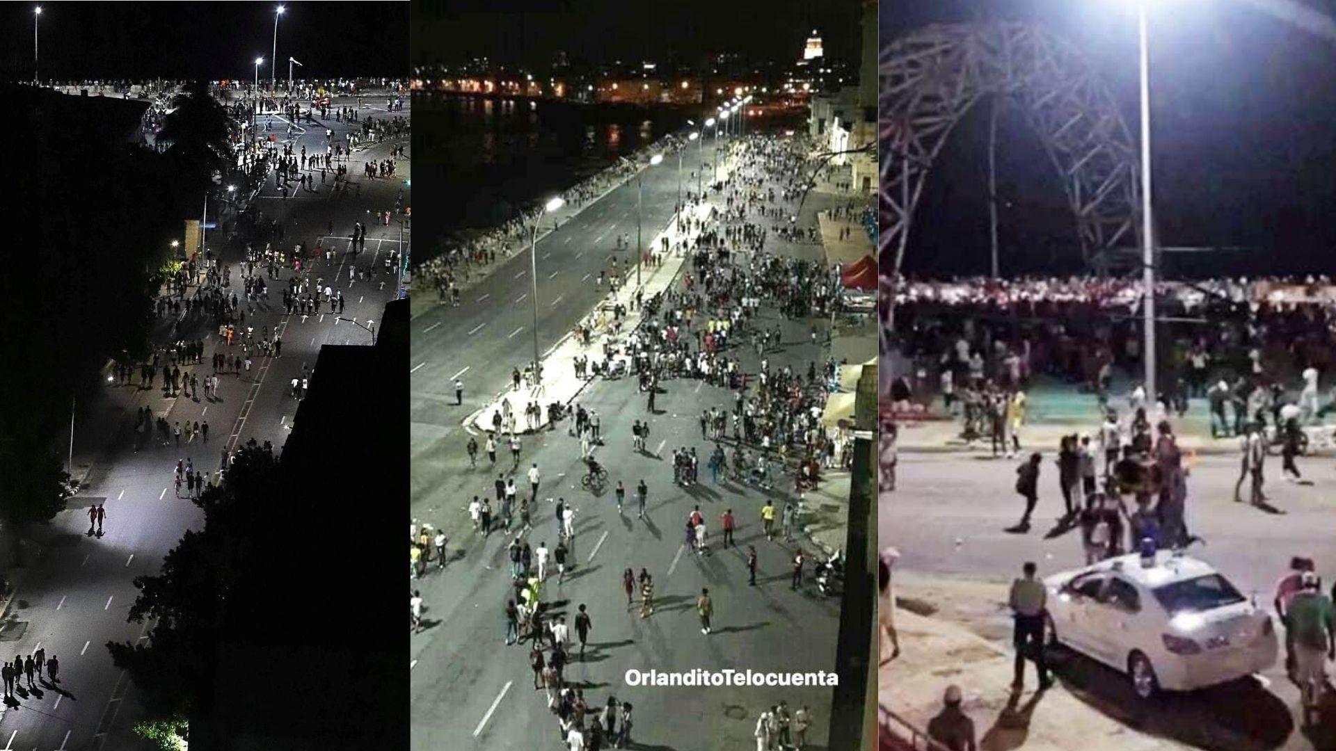 Las aglomeraciones en el Malecón de La Habana durante el fin de semana generan polémica en las redes sociales