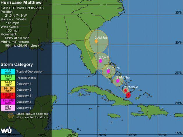 Florida cierra escuelas, ordena evacuaciones por Matthew
