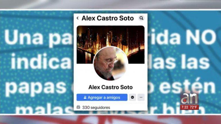 Tío de Sandro Castro borra de Facebook publicación donde llamo Papa Podrida a Sandro