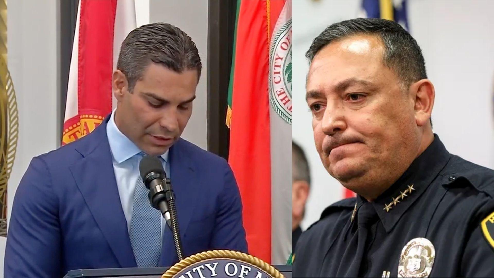 alcalde de la ciudad de miami respalda la decision de despedir al jefe de policia, art acevedo