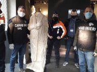 italia recupera en belgica una estatua romana robada en 2011