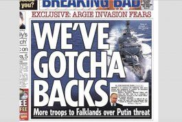 Fragmento de portada periódico inglés THE SUN