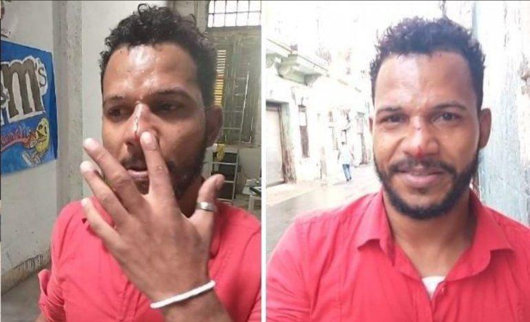 Esto es no casualidad: Un supuesto grupo de abakuás golpean a Maykel Osorbo en plena calle