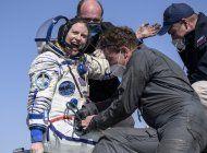 astronautas de eeuu, rusia regresan a la tierra desde la eei