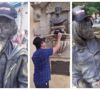Diseminan gorras de la película Plantados en La Habana